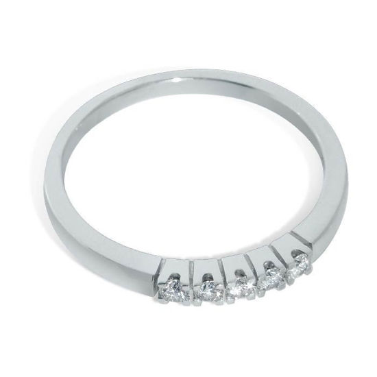 Diamantring Iselin med 5x0,03 ct TW-Si - 8505030