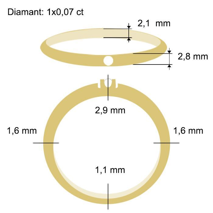 Diamantring Iselin med 0,07 ct TW-Si-85010070