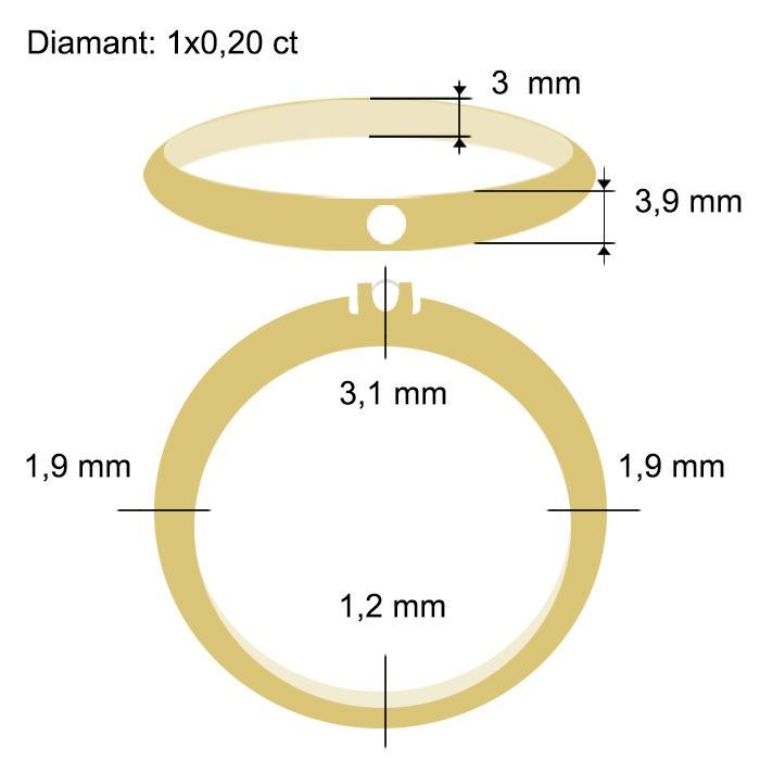 Diamantring Iselin med 0,20 ct TW-Si-85010200