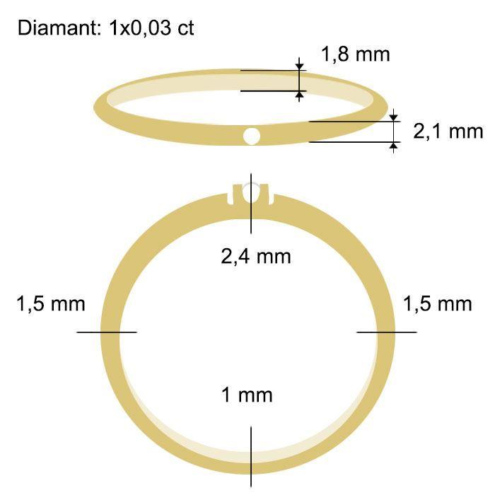 Diamantring Iselin med 0,03 ct TW-Si-85010030