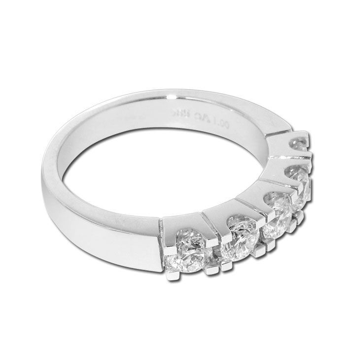 Diamantring Iselin med 5x0,20 ct TW-Si-8505020