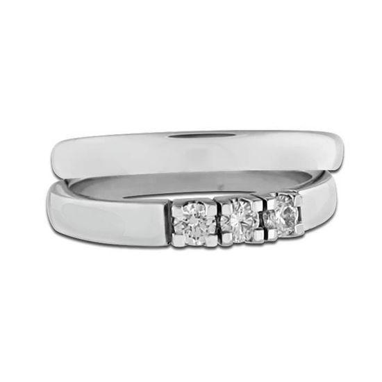 Giftering & diamantring Iselin hvitt gull 14 kt, 3 mm - 1530-8503010