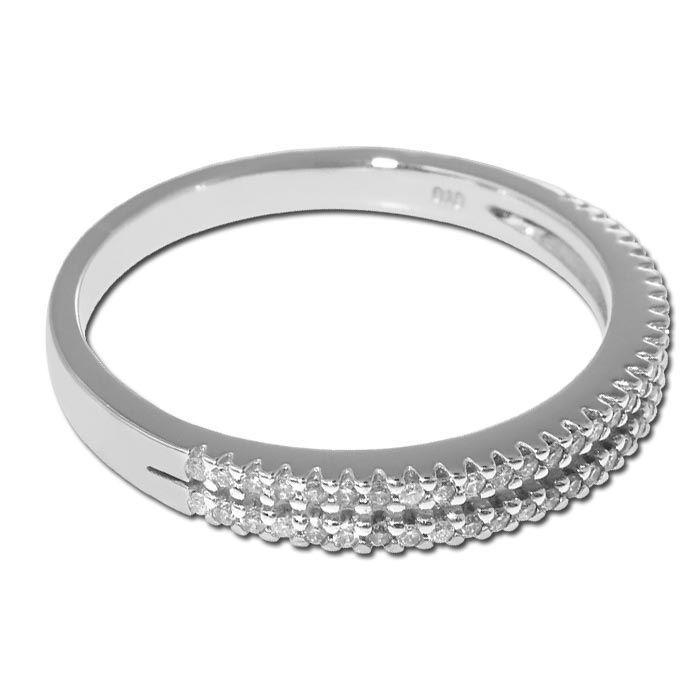 Diamantring i hvitt gull med 0,19 ct W-Si -BUR536465