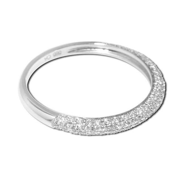 Diamantring i hvitt gull med 0,35 ct W-Si - 8790035