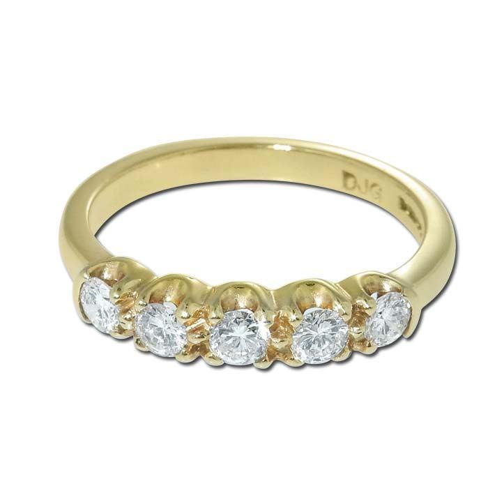 Diamantring i gult gull med 0,47 ct TW-VS - 17900047