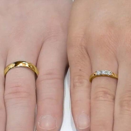 Giftering & diamantring Iselin 0,21ct gult gul, 5 mm - 1250-85030700