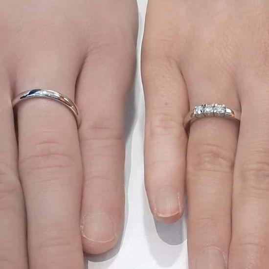 Giftering & diamantring Iselin 0,30ct hvitt gull, 3 mm - 1530-8503010