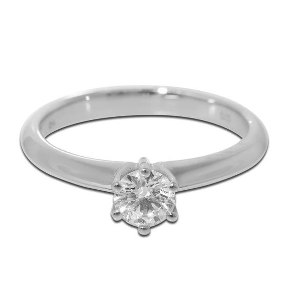 Diamantring i hvitt gull med 0,30 ct TW-Si - 11390030