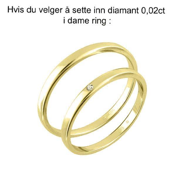 Gifteringer fra OREST i gult gull 14kt, 2.5 mm -1152500