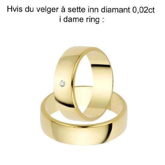 Gifteringer i gult gull 14kt,5 mm. OREST –115500