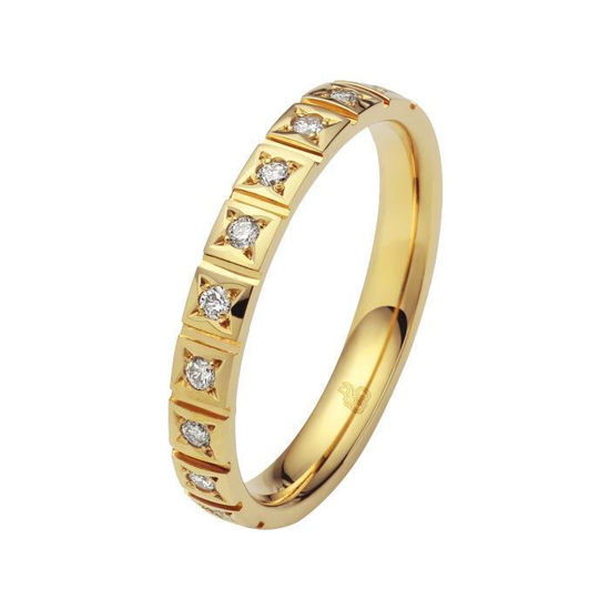 Flerstens diamantring med 0,15 ct W-Si i 9kt gull - 11035099999