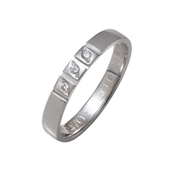 Flerstens diamantring med 3x0,015 ct W-Si i 9kt gull - 4124703