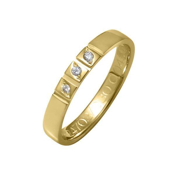 Flerstens diamantring med 3x0,015 ct W-Si i 9kt gull - 41247030
