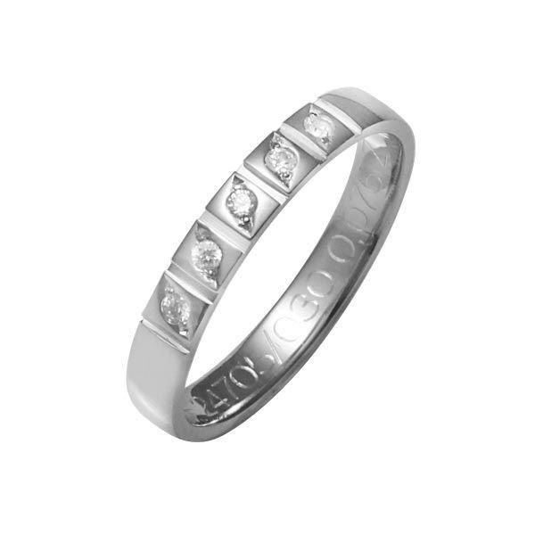 Flerstens diamantring med 5x0,015 ct W-Si i 9kt gull - 41247050