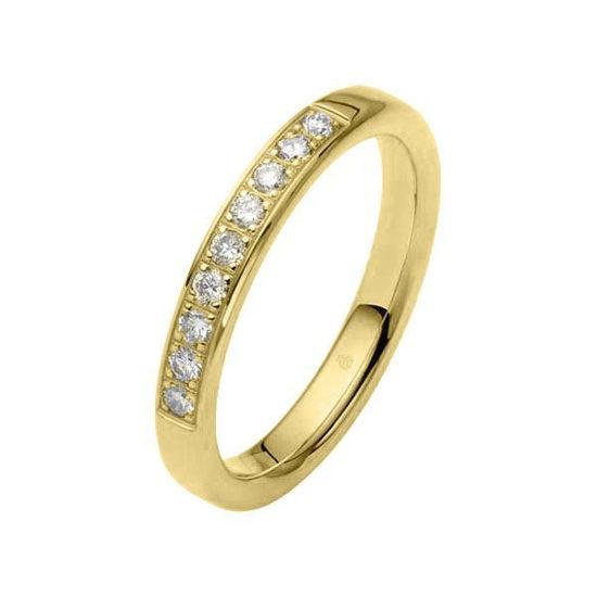 Flerstens diamantring med 0,27 ct W-Si i 9kt gull - 1103463999
