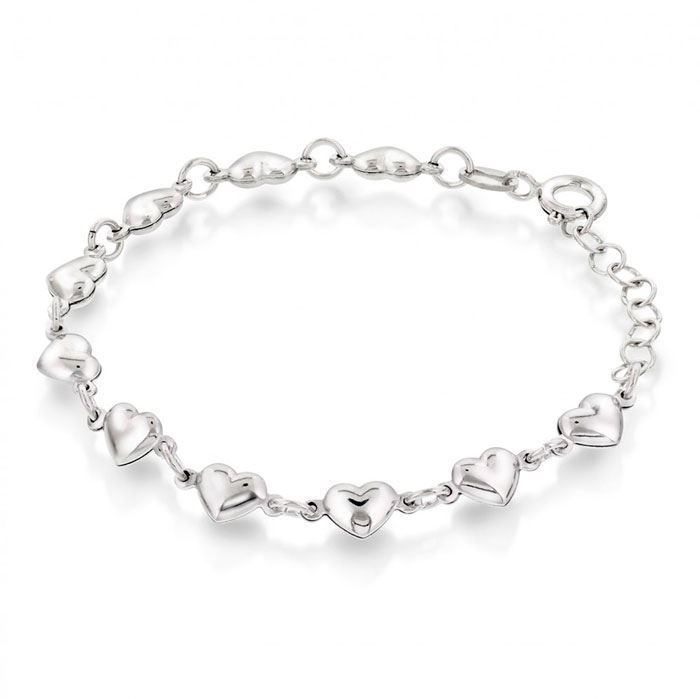 Armbånd i sølv. Hjerter - 62197