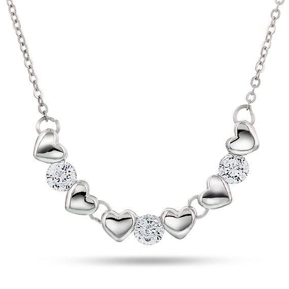Smykke i sølv. Hjerter og stener - 65003
