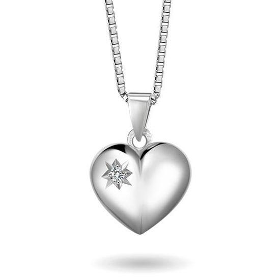 Smykke i sølv. Hjerte - 64071