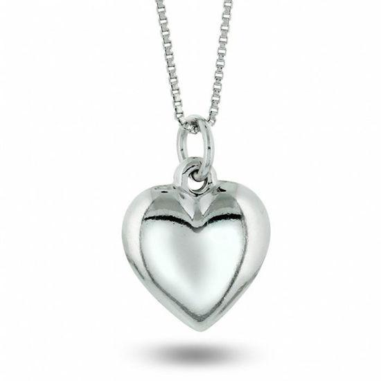 Smykke i sølv. Hjerte stort - 64018