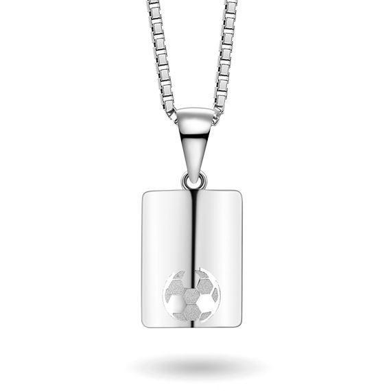 Smykke i sølv. Fotball - 63361