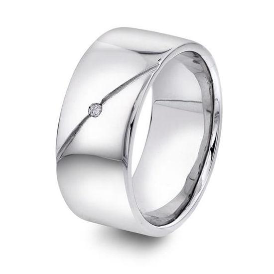 Herre ring i sølv med zirkonia. Alexander - 972289