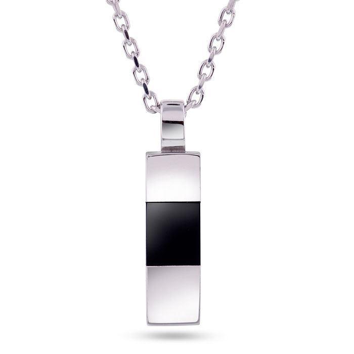 Smykke i sølv med sort onyx. Alexander - 972248