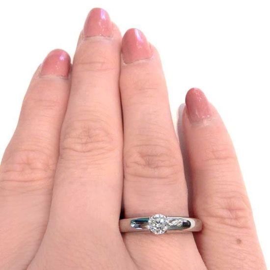 Enstens diamantring Ja! med 0,26 ct i 9kt gull. TW-Si. -5100031