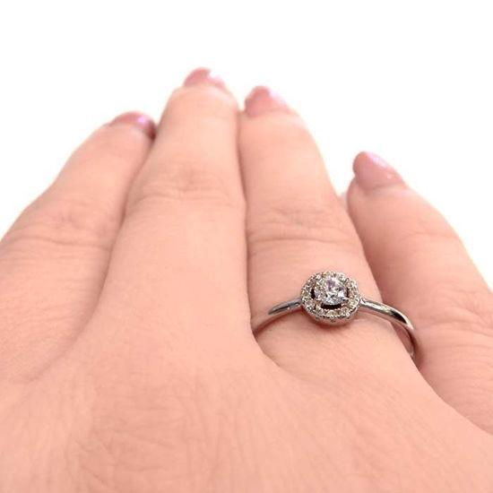 Flerstens diamantring Ja! med 0,17 ct TW-Si i 9kt gull -5100023