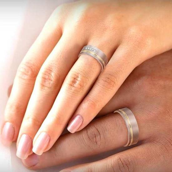 illustrasjon med hånd av gifteringer – 160025