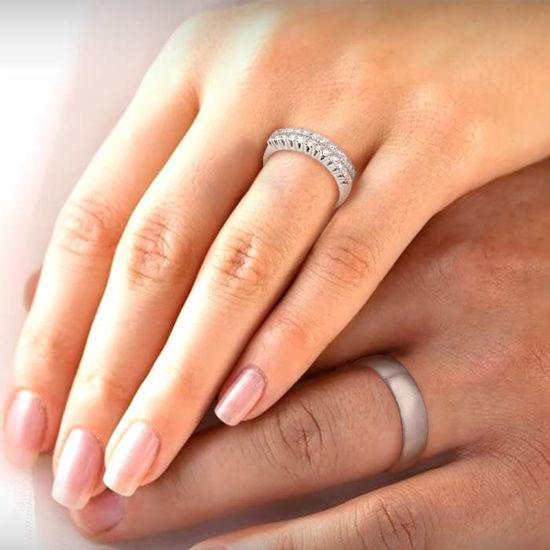 illustrasjon med hånd av gifteringer –1350-3301038