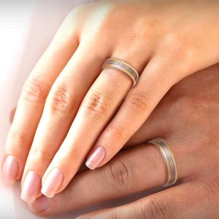 illustrasjon med hånd av gifteringer –160020
