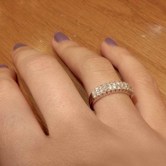 Diamantring i hvitt gull med 0,52 ct W-Si-3307052