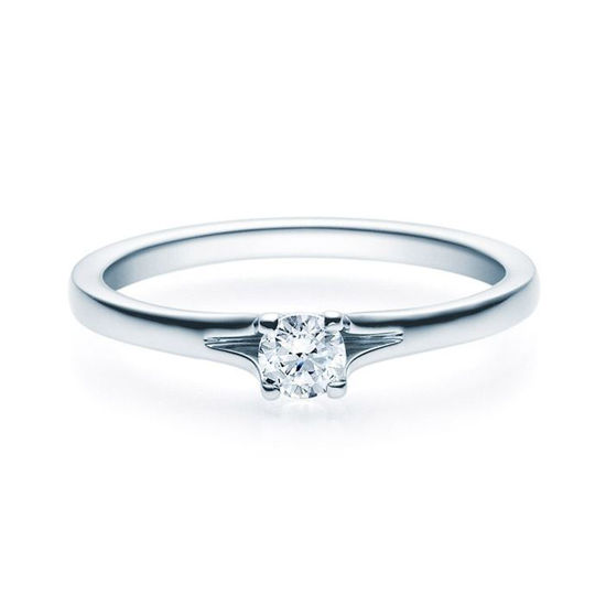 Enstens platina diamantring med 0,20 ct TW-Si -18020020pt