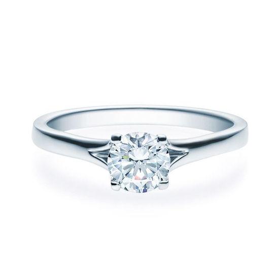 Enstens platina diamantring med 0,70 ct TW-Si -18020070pt