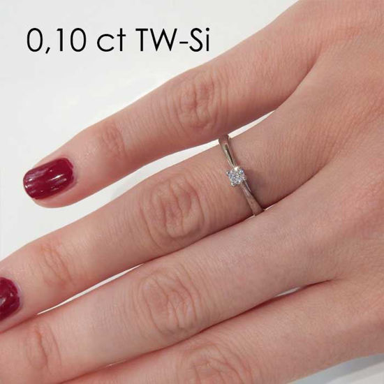 Enstens platina diamantring Alida med 0,16 ct TW- Si -18002016pt