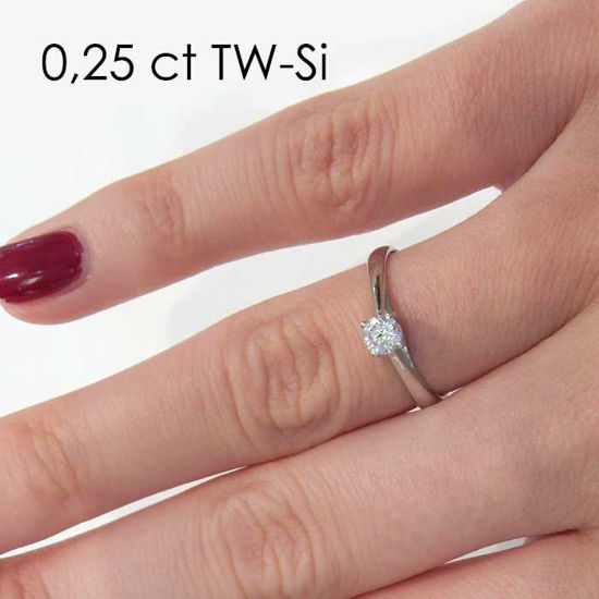 Enstens diamantring Alida med 0,25 ct TW-Si i 14kt gull - 18002025