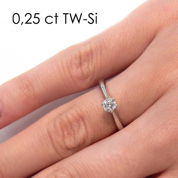 Enstens platina diamantring Leticia med 0,20 ct TW-Si -18007020pt