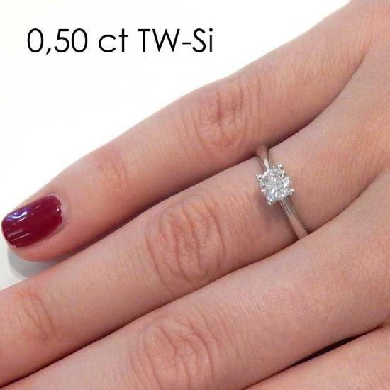 Enstens platina diamantring Alida med 0,40 ct TW-Si -18002040pt