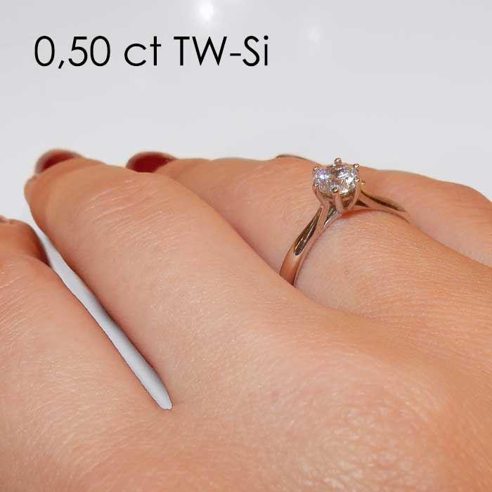 Enstens platina diamantring Leticia med 0,40 ct TW-Si -18007040pt