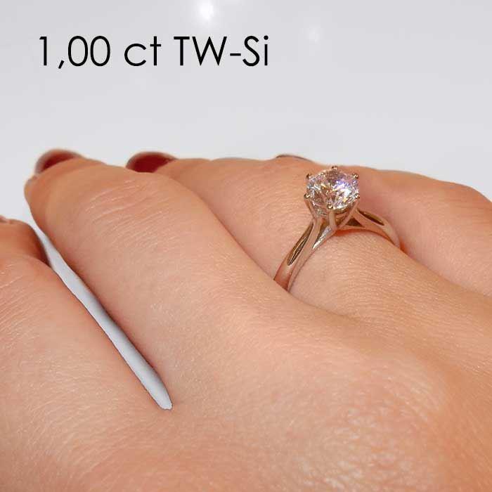 Enstens platina diamantring Leticia med 0,70 ct TW-Si -18007070pt
