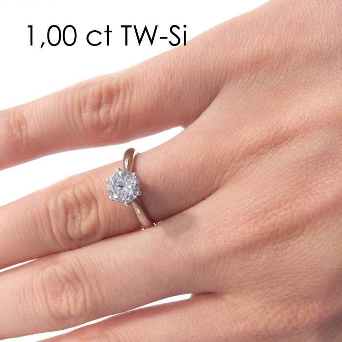 Enstens diamantring Leticia med 1,00 ct i 14kt gull. TW-Si. -18007100