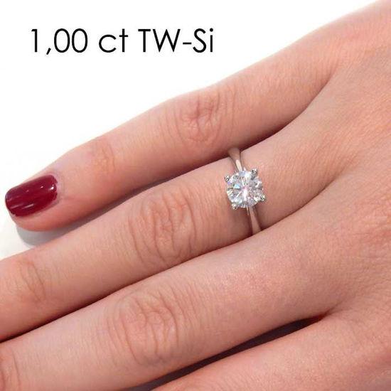 Enstens platina diamantring Alida med 0,70 ct TW-Si -18002070pt