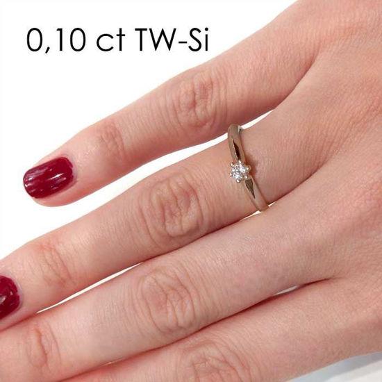 Enstens platina diamantring Violetta med 0,16 ct TW-Si - 18003016pt
