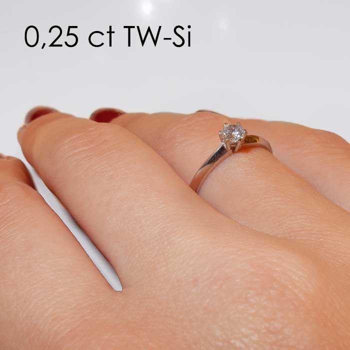 Enstens platina diamantring Violetta med 0,25 ct TW-Si - 18003025pt