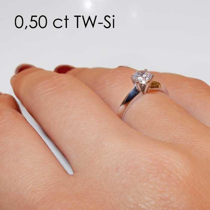 Enstens platina diamantring Violetta med 0,40 ct TW-Si - 18003040pt