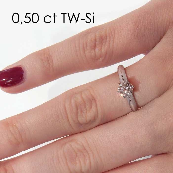Enstens diamantring Violetta med 0,50 ct TW-Si i 14kt gull.- 18003050