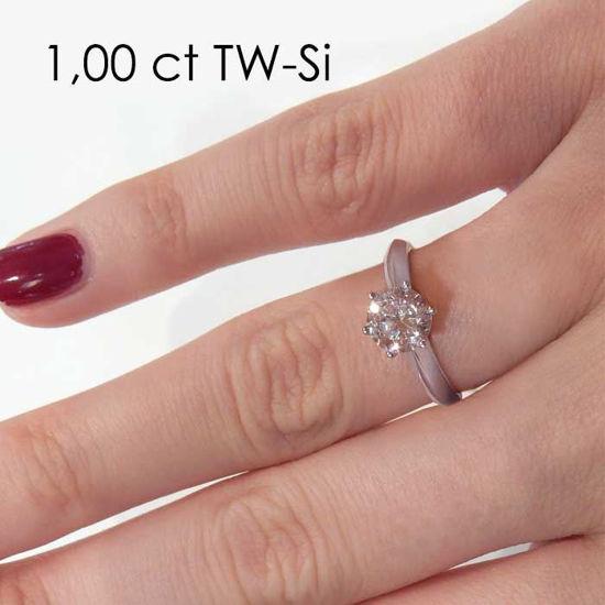 Enstens platina diamantring Violetta med 0,70 ct TW-Si - 18003070pt