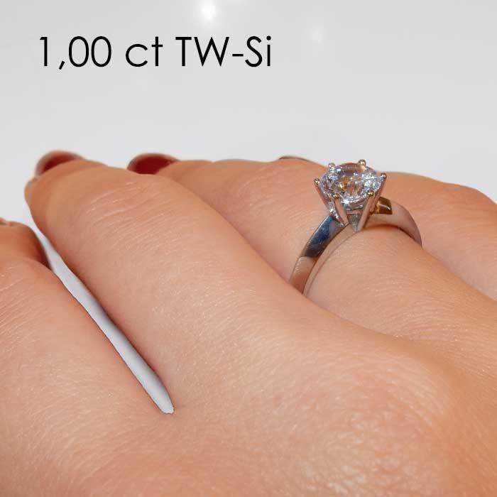 Enstens diamantring Violetta med 0,70 ct TW-Si i 14kt gull.- 18003070