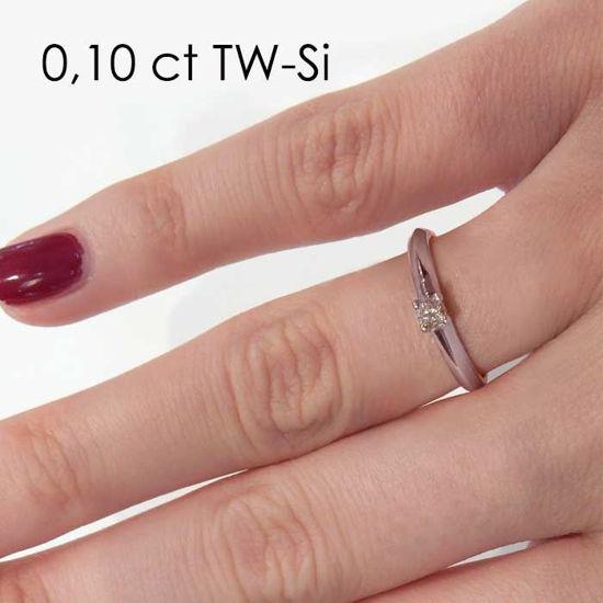 Enstens platina diamantring Elissa med 0,16 ct TW-Si -18004016pt