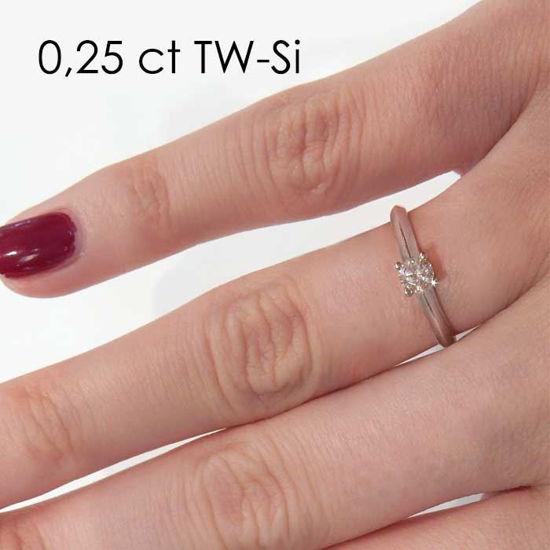 Enstens platina diamantring Elissa med 0,30 ct TW-Si -18004030pt